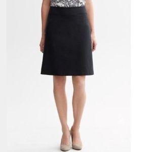 Banana Republic Black Sleek Suit A-line Skirt 6
